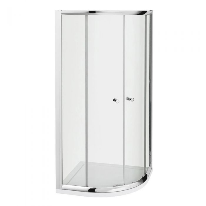Milano Hutton Complete Quadrant Shower Enclosure With Tray & Waste 800x800mm