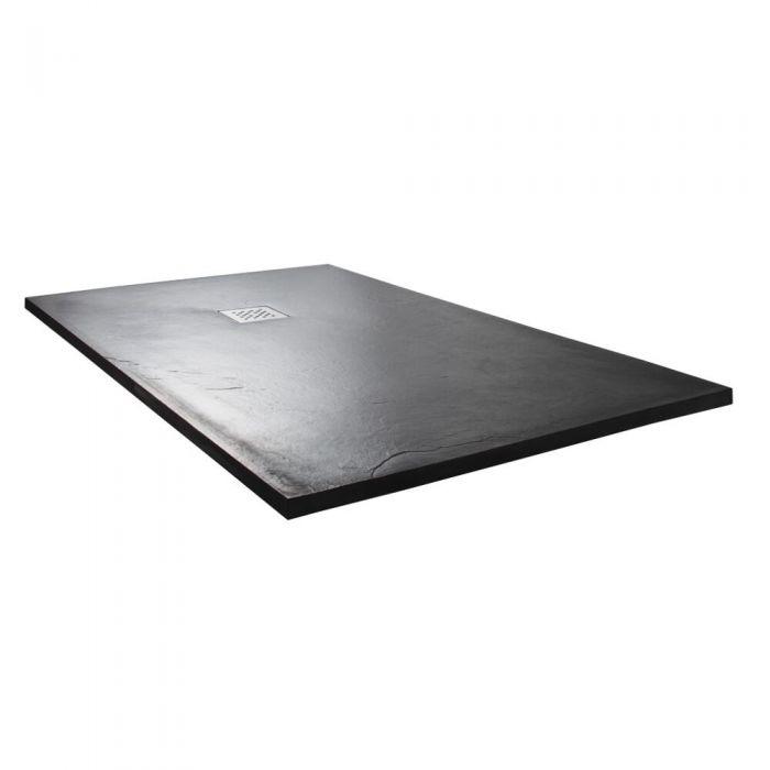 Milano Slate Effect Rectangular Shower Tray 1200x900mm