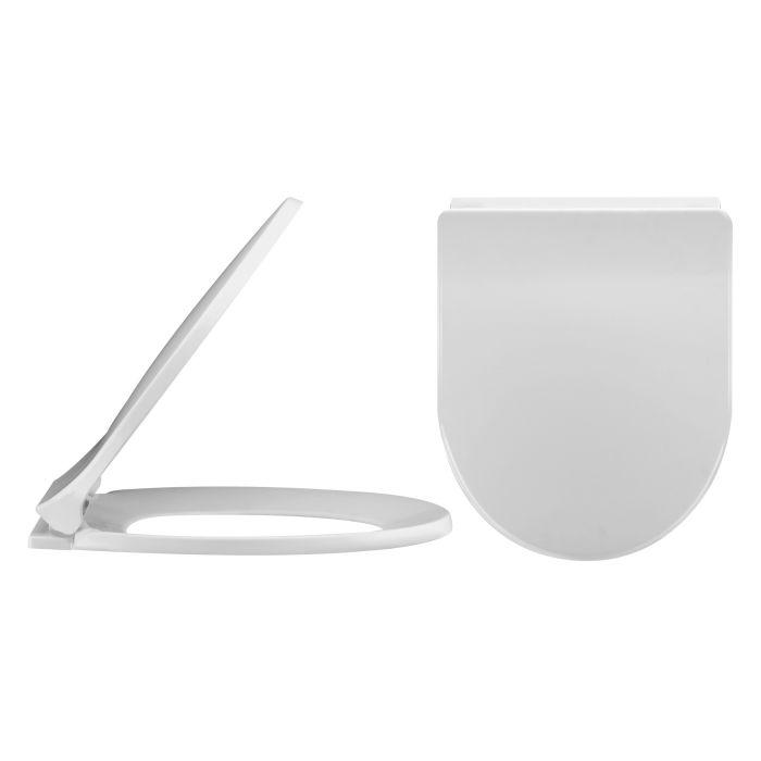 Premier Luxury D- Shape Toilet Seat- top fixing
