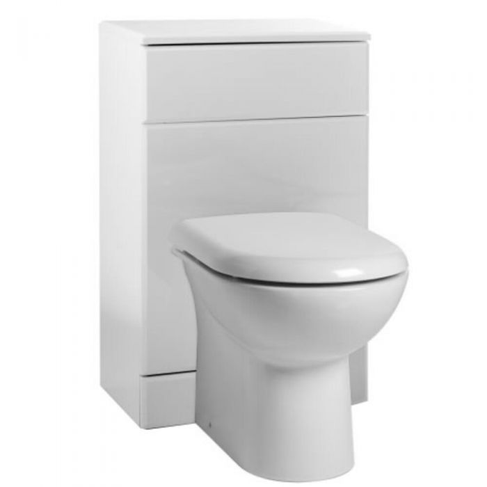 Ultra White Gloss Back To Wall Toilet Pan And Cistern 600mm