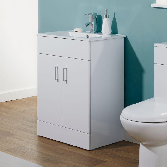 Premier 600mm Minimalist White Gloss Vanity Unit