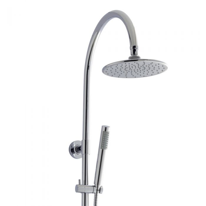 Ultra Zephyr Rigid Riser Kit with Round Shower Head and Hand Shower