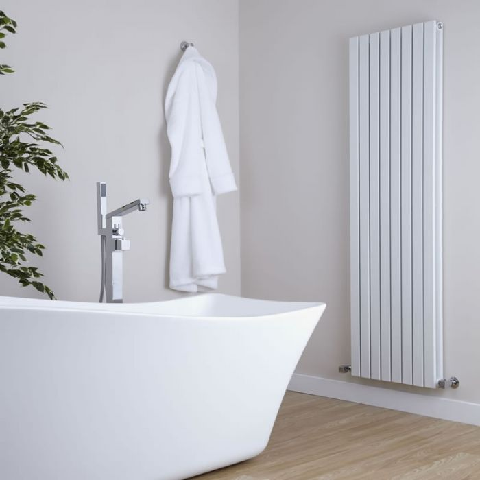 Milano Capri - White Vertical Flat Panel Double Designer Radiator 1600mm x 472mm