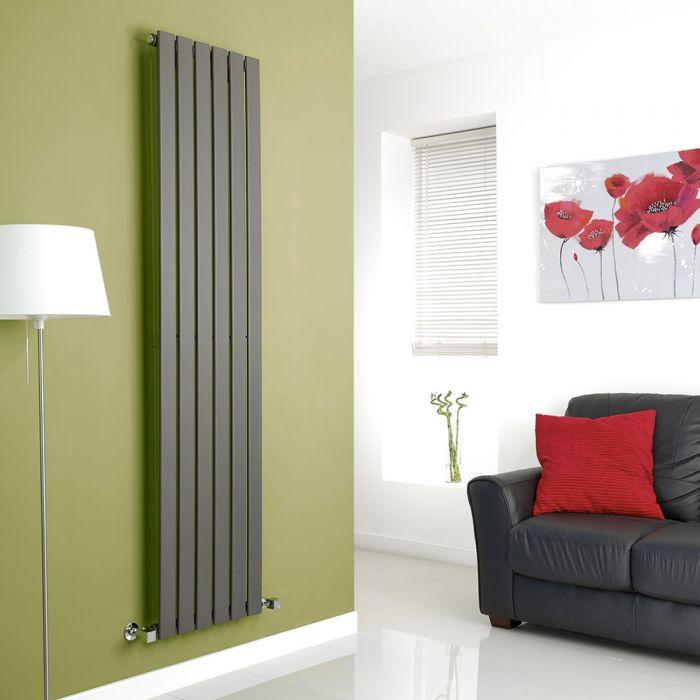 Milano Anthracite Vertical Single Slim Panel Designer Radiator 1780mm x 420mm