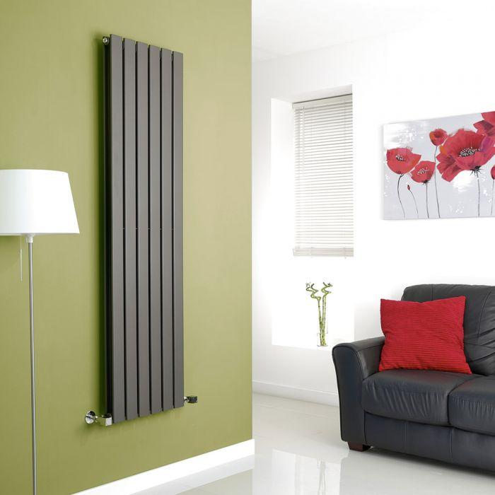 Milano Anthracite Vertical Double Slim Panel Designer Radiator 1600mm x 420mm