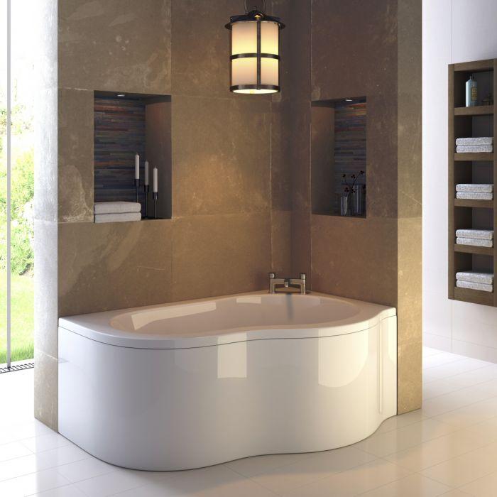 Premier Estuary 1500mm x 1000mm Bath & Panel Right Hand