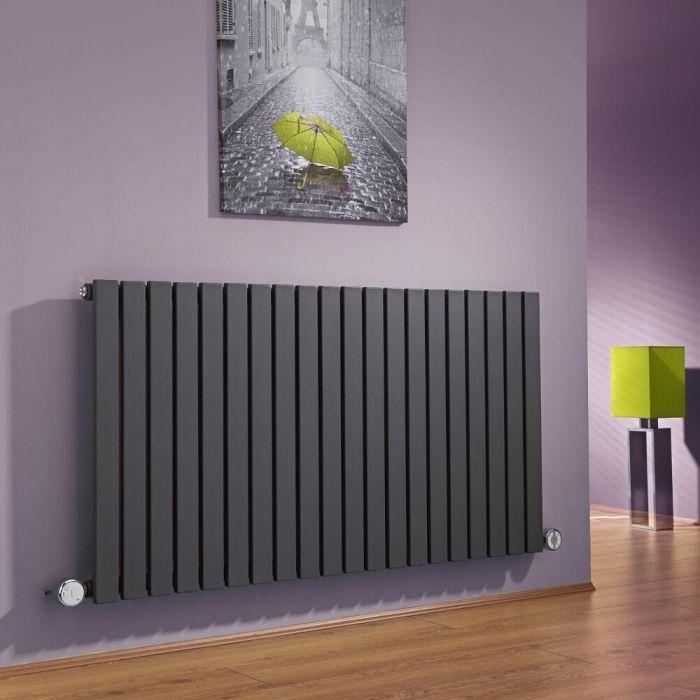 Milano Capri - Anthracite Horizontal Flat Panel Electric Designer Radiator 635mm x 1180mm