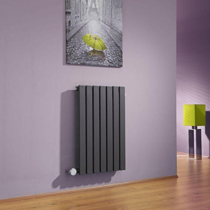Milano Capri - Anthracite Horizontal Flat Panel Electric Designer Radiator 635mm x 420mm
