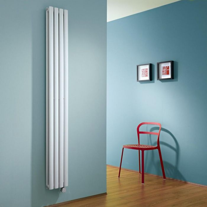 Milano Aruba Slim - White Space-Saving Vertical Electric Designer Radiator 1780mm x 236mm (Double Panel)