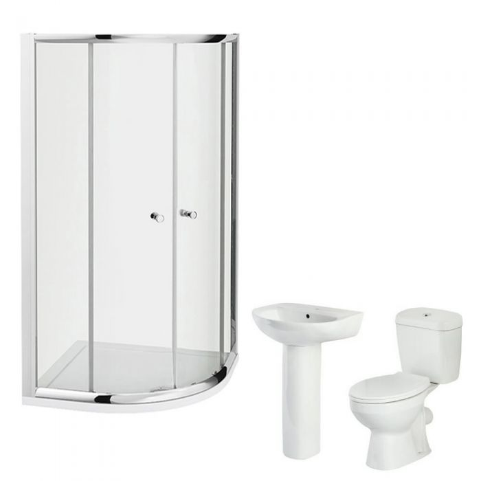Milano 800mm Melbourne Quadrant Shower Cubicle En Suite