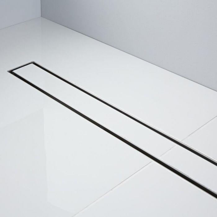 Milano 1200mm Tile Insert Linear Stainless Steel Shower Drain