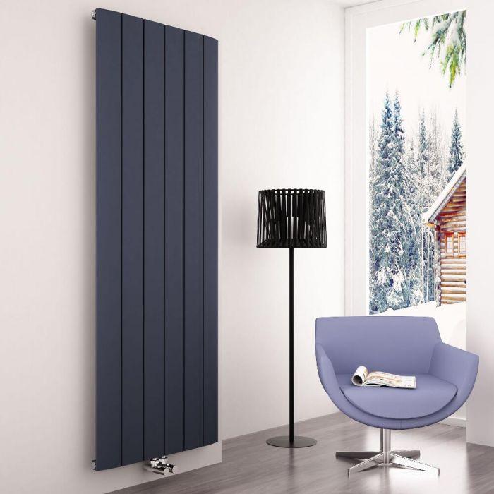 Milano Skye - Aluminium Anthracite Vertical Designer Radiator 1800mm x 565mm