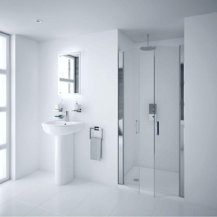 Milano Portland 800mm Double Hinged Shower Door 6mm