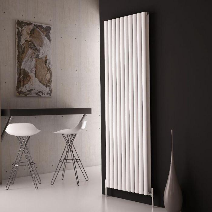 Milano Aruba Ayre - Aluminium White Vertical Designer Radiator 1800 x 590