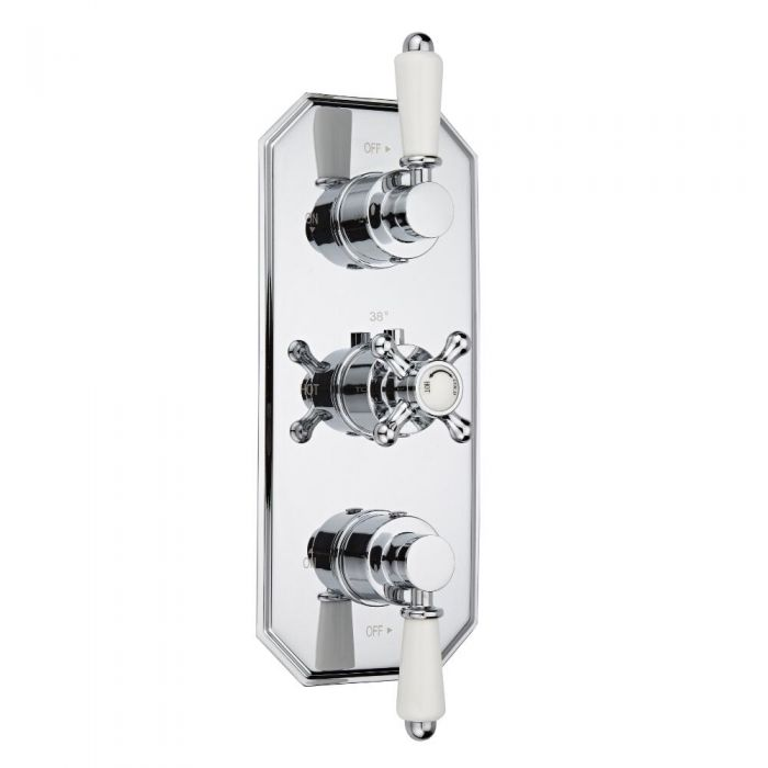 Milano Victoria Concealed Thermostatic Triple Shower Valve 2 Outlet