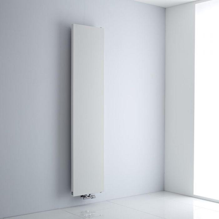 Milano Riso - White Flat Panel Central Inlet Vertical Designer Radiator 1820mm x 400mm