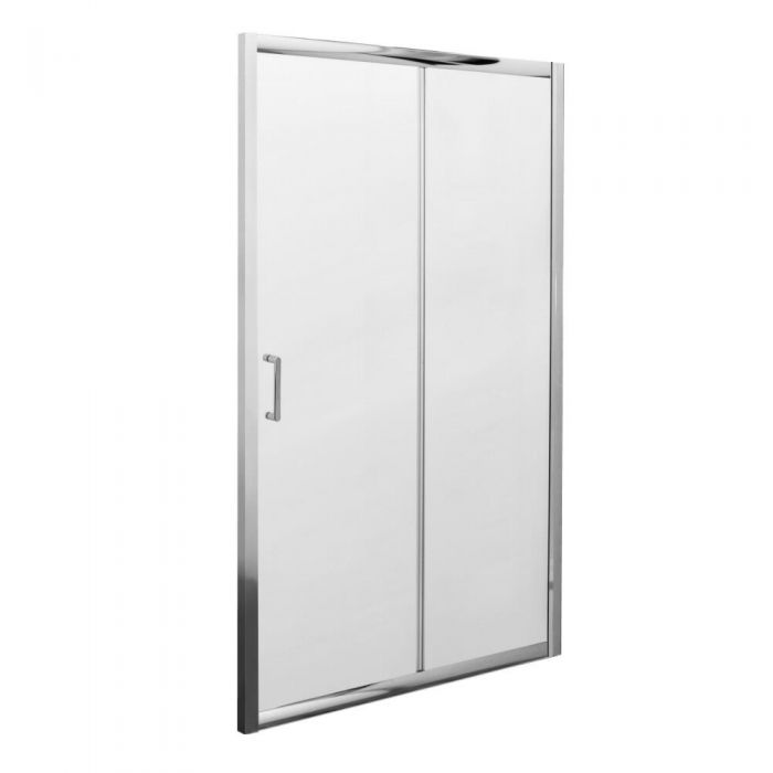 Milano Portland Complete Sliding Shower Door Enclosure With Tray, Waste & End Panel 1000 x 800mm