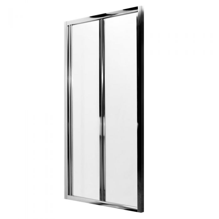 Milano Portland Complete Bi-Fold Shower Enclosure With Tray, End Panel & Waste 760 x 760mm