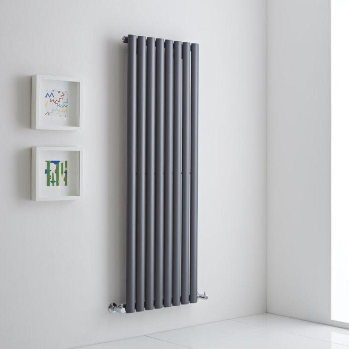 Milano Aruba Aiko - Anthracite Vertical Designer Radiator 1400mm x 472mm (Single)