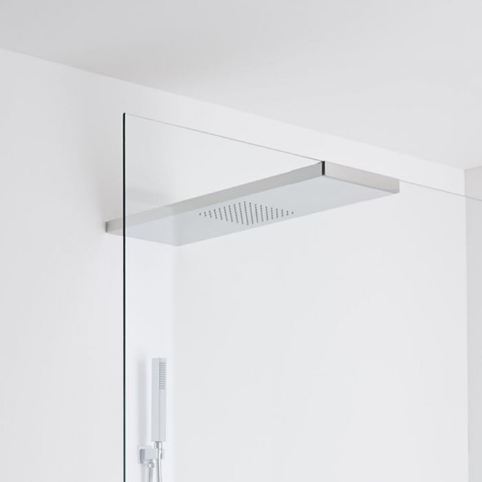 Milano Trenton Glass-grabbing shower head 900 x 250 - Chrome