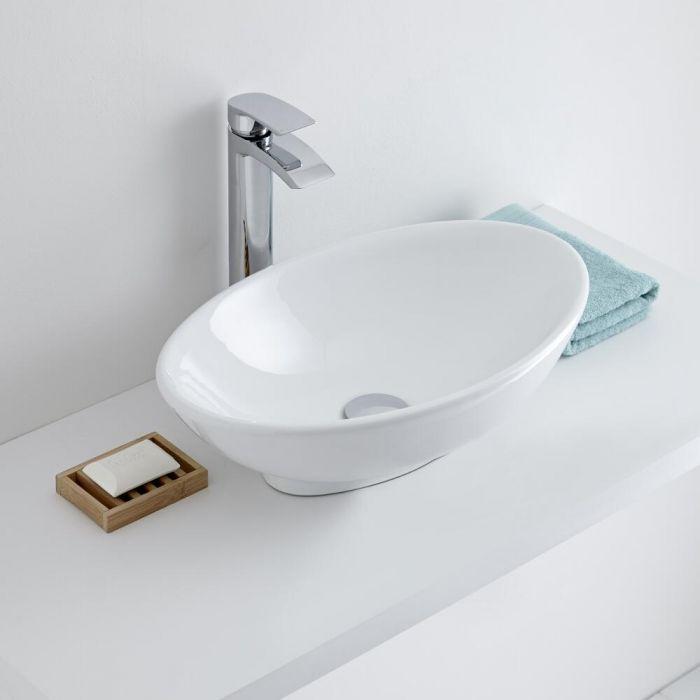 Milano Altham - Oval Ceramic Countertop Basin 520 x 320mm