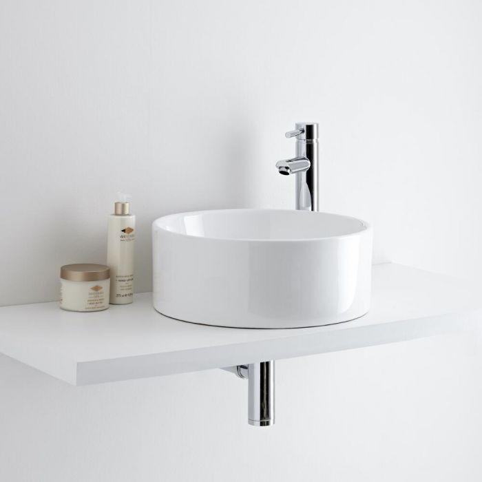 Milano Ballam - Round Ceramic Countertop Basin 400mm