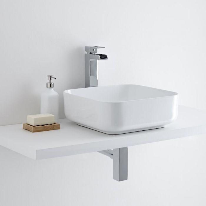 Milano Longton - Square Ceramic Countertop Basin 400mm