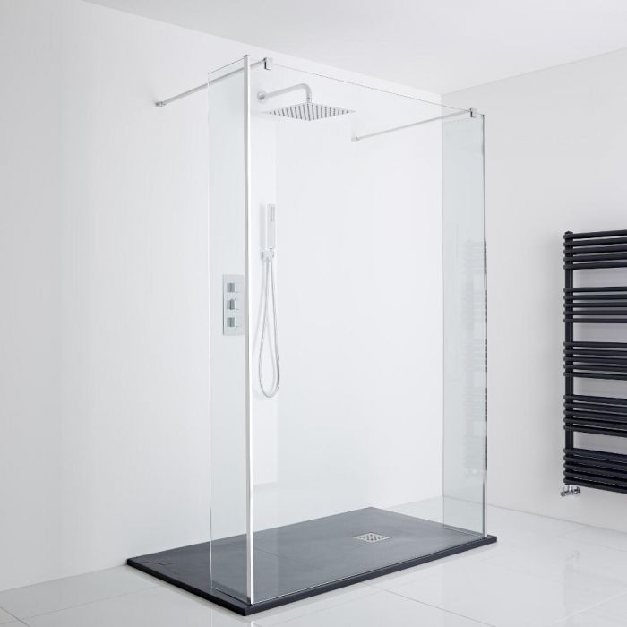 Milano Walk-In Shower Enclosure with 1200x800mm Slate Effect Tray