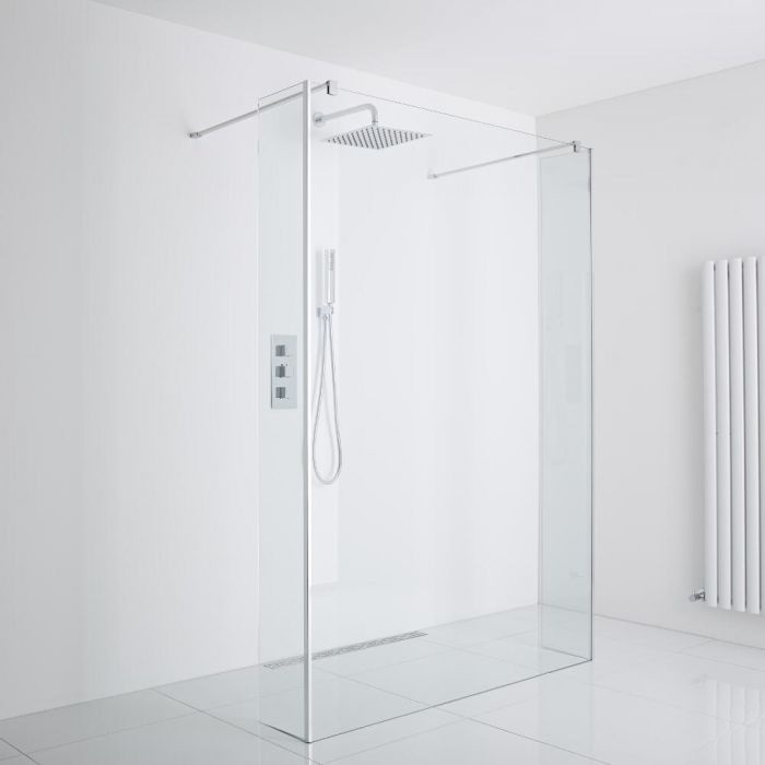 Milano Wet-Room Shower Enclosure Including Drain (1000mm Glass)