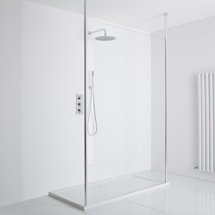 Milano Alto Floating Wet-Room Shower Enclosure (1000 x 800) - Inc. Tray