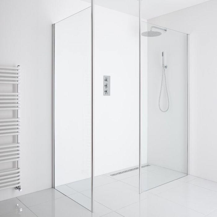 Milano Alto Corner Walk-In Shower Enclosure (1000mm Glass) - Includes Drain