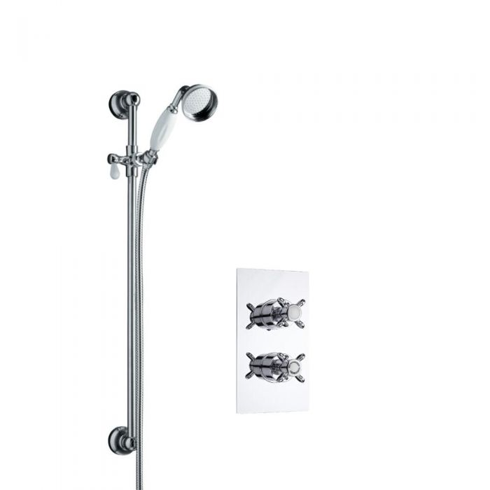 Milano Slide Rail Kit and Traditional Thermostatic Shower Valve