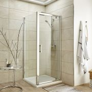 Premier 900mm Pivot Door Shower Enclosure , Tray & Waste