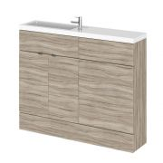 Hudson Reed 1100mm Driftwood WC Combination Unit