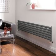 Milano Aruba - Luxury Anthracite Horizontal Designer Radiator 354mm x 1600mm
