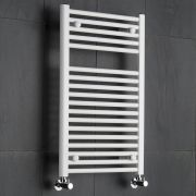 Sterling Premium White Flat Heated Towel Rail 800mm x 500mm