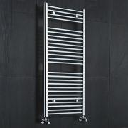 Sterling Premium Chrome Flat Heated Towel Rail 1200 x 600