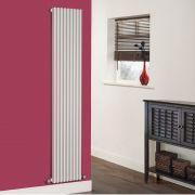 Milano Cayos - Luxury White Vertical Designer Radiator Sideways Panels 1780mm x 342mm