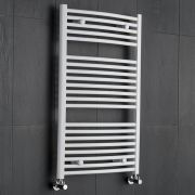 Sterling Premium White Curved Heated Towel Rail 1000mm x 600mm