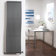 Milano Wave - Anthracite Designer Wave Radiator 1600mm x 460mm