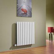 Milano Capri - White Horizontal Flat Panel Electric Designer Radiator 635mm x 600mm