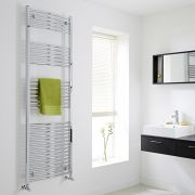 Milano Curved Chrome Heated Towel Rail 1800mm x 600mm