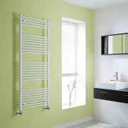 Milano Flat White Heated Towel Rail 1500mm x 600mm