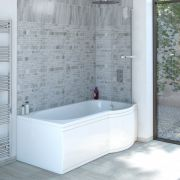 Milano Concept 1500 P Shape Shower Bath - Right Hand