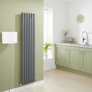 Milano Aruba - Luxury Anthracite Vertical Designer Radiator 1600mm x 354mm