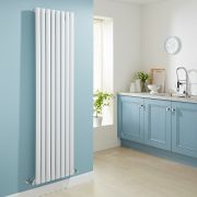 Milano Aruba - Luxury White Vertical Designer Radiator 1780mm x 472mm