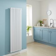 Milano Aruba - Luxury White Vertical Designer Double Radiator 1600mm x 472mm