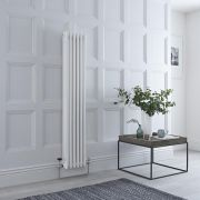 Milano Windsor - Traditional 6 x 3 Column Radiator Cast Iron Style White 1500mm x 290mm