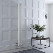 Milano Windsor - Traditional 4 x 3 Column Radiator Cast Iron Style White 1800mm x 200mm