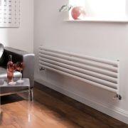 Milano Aruba - Luxury White Horizontal Designer Radiator 354mm x 1780mm